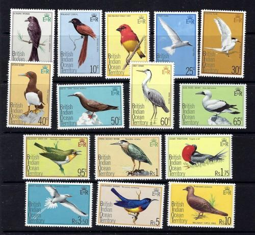 British Indian Ocean Territory 63-77 NH 1975 Birds set