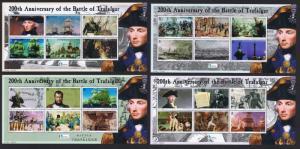 Solomon Is. Bicentenary of the Battle of Trafalgar 4 sheets SG#1087-1110