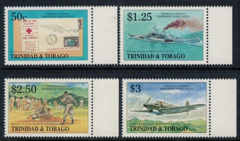 Trinidad & Tobago #588-91* NH  CV $7.25  World War 2