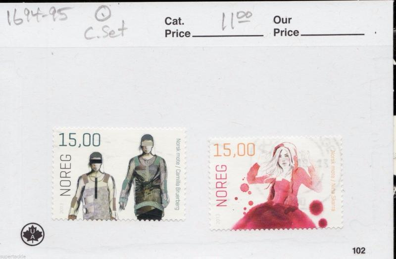 2013 Norway Norge Sc #1695 Θ used VF - Norsk mote / fashion stamps