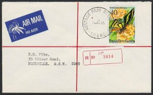 PAPUA NEW GUINEA 1975 Reg cover POSTAGE PAID RELIEF No.1 cds.................H17