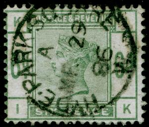 SG194, 6d dull green, FINE USED, CDS. Cat £240. IK