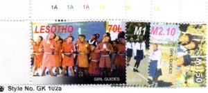 LESOTHO 166-9 MNH SCV $4.75 BIN $2.85 GIRL GUIDES
