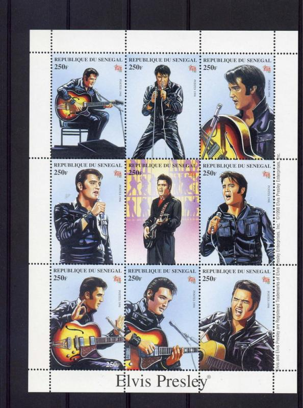 Senegal 1998 Elvis Presley Italia'98 Philatelic Sheet Perforated mnh.vf