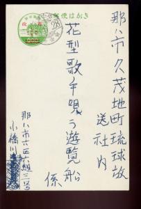 Ryukyu Islands Scott #UX12e Wrong Font 'Cents' Sign Error Post Card (Ry UX12-19)
