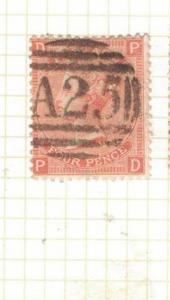 Malta GB Used Abroad SG Z49 Plate 14 Item One VFU (16drv)