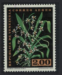 Venezuela Orchids 'Oncidium zebrinium' 2B KEY VALUE 1962 Canc SC#C803 SG#1730