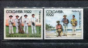 Colombia 880-881, MNH, Villavicento Festival, 1980. x23151