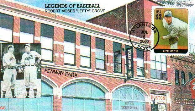 BGC 3408 Baseball Legends Left Grove Fenway Park Boston