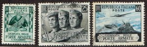 Italy # 613 - 615  Used