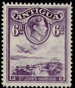 ANTIGUA GVI SG104, 6d violet, NH MINT.