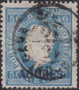 Azores 1875-1888a SC 34a Used Stamp