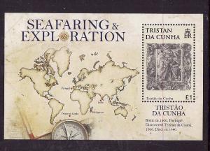 Tristan da Cunha-Sc#863-Unused NH sheet-Maps-Explorer-Tristao da Cunha-2008-