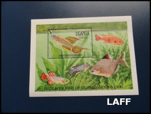 Uganda - Fish - Mini Sheet MNH