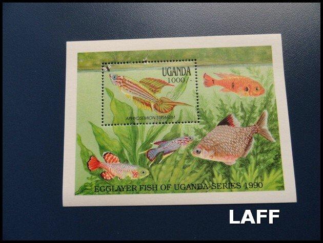 Uganda - Fish - Mini Sheet MNH