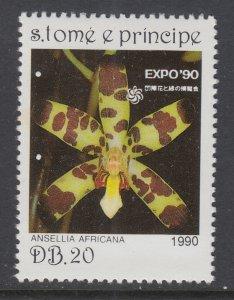 Sao Tome and Principe 921 Flower MNH VF