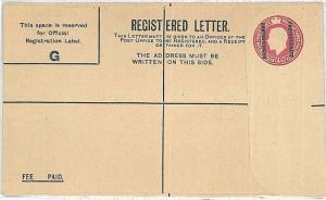 BRITISH BECHUANALAND: REGISTERED LETTER - POSTAL STATIONERY: HIGGINGS & GAGE #16