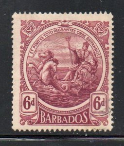Barbados Sc 135 1918 6d claret Seal of Colony stamp used