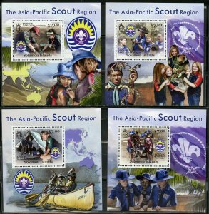 SOLOMON ISLANDS NEVER OFFERED 2012 SCOUTS SET OF 4  DELUXE S/S MINT NH