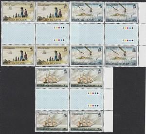 PITCAIRN 1981 Migration to Norfolk set gutter plate blocks MNH.............55251
