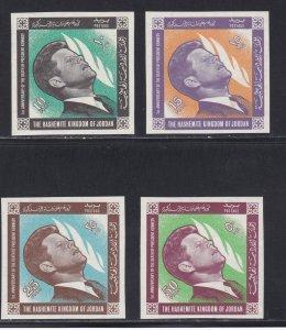 Jordan # 506-509, John F. Kennedy, Imperf Set, NH,