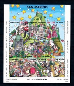 [50046] San Marino 1993 Village Europe Fishing Bridge MNH Sheet