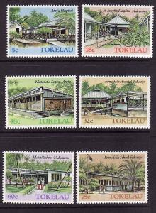 Tokelau-Sc#126-31-unused NH set-Hospitals, Schools-1986-