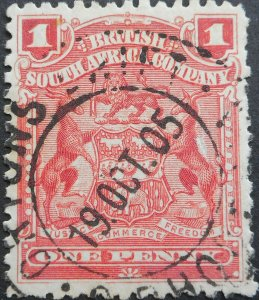 Rhodesia 1898 1d with ORTONS DRIFT (DC) postmark