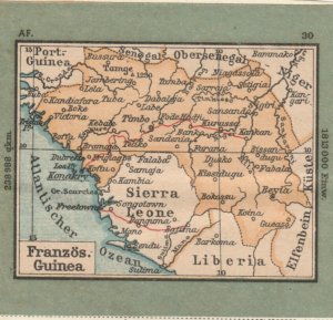 Germany Schaubek Poster Stamp FRENCH GUINEA Map A6090
