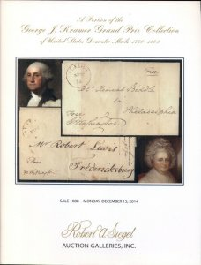 U.S. DOMESTIC MAILS 1776-1869, SIEGEL AUCTION GALLERIES, SOFT COVER BOOK
