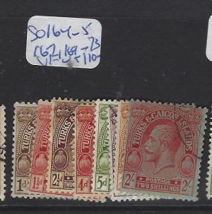 TURKS AND CAICOS  (P3006BB)  KGV  SG 164-5, 167, 169-173      VFU