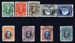 SOUTHERN RHODESIA King George V 1931-37 Definitive Part Set SG 15 to SG 23 VFU