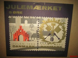 Denmark. 1 Post Office,Display,Advertising Sign.Trade Sign. Christmas Seal 1962