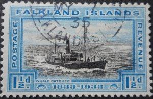 Falkland Islands 1933 GV Centenary 1½d SG 129 used