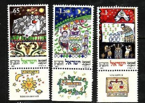 Israel-Sc#1089-91 -unused NH set with tab-Jewish Festivals-1991-