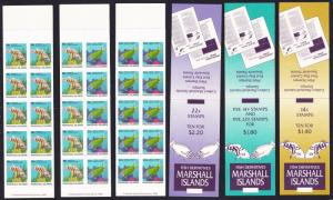 Marshall Is. Fish 3 Booklets issue 1988 SG#150=158
