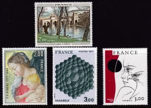 France 1977 ART Complete (4) Head Eye & Eagle by Pierre Yves Tremois VF/NH