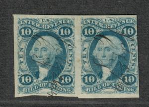 US Sc#R32a Used/F-VF, Imperf. Revenue Pair, Cv. $300