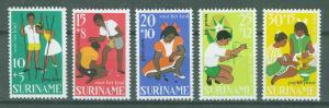 SURINAM/SURINAME 1967 MNH SC.B137/B141 Child Walfare