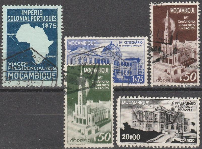 Mozambique #290, 293-6  F-VF Used  CV $5.25  (A14907)
