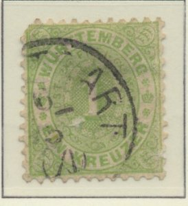 Wurttemberg Stamp Scott #54, Used - Free U.S. Shipping, Free Worldwide Shippi...