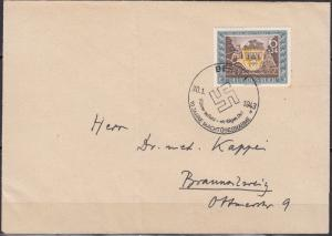 Germany - 30.1.1943 Stamp Day as single franking on cover spec.cancel (5203)