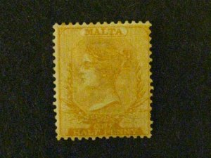 Malta #3c mint hinged signed toned gum c203 489