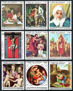 Paraguay 1116-1124, MNH. Paintings of life of Christ by El Greco,Raphael,Corregg