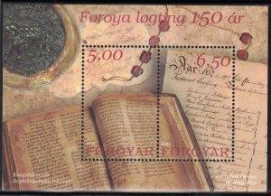 (CMA) Faroe Islands Scott #422 MNH Souvenir Sheet