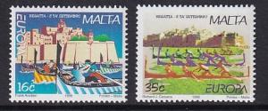 Malta   #944-945  MNH  1998  Europa  various boats   regatta  national festivals