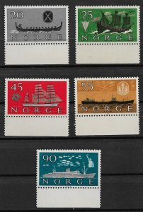 1960 Norway 382-6 Norwegian shipping industry C/S of 5 MNH SCV$14.50