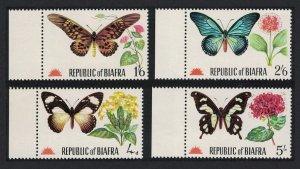 Biafra Butterflies 4v Margins 1968 MNH MI#27-30 CV?16.-