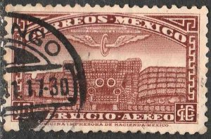 MEXICO C66, 10¢ TLALOC, GOD OF WATER. USED. F-VF. (552)