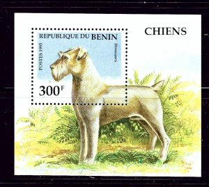 Benin 747 MNH 1995 Dogs S/S